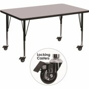 CARNEGY AVENUE 25.37 IN. GRAY KIDS TABLE