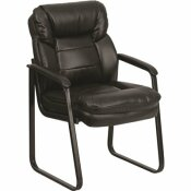 FLASH FURNITURE BLACK LEATHER OFFICE/DESK CHAIR