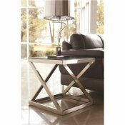FLASH FURNITURE BRUSHED NICKEL COFFEE TABLE