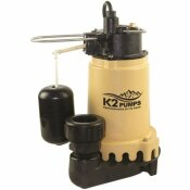 K2 1/3 HP SUMP PUMP WITH SNAP ACTION SWITCH - K2 PART #: SPI03302K