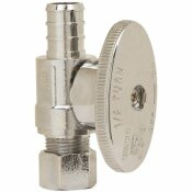 PLUMB SHOP 1/2 IN. NOMINAL CRIMP BARB (PEX) X 3/8 IN. O.D. COMPRESSION 1/4 IN. TURN STRAIGHT STOP