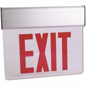 COMMERCIAL ELECTRIC 120-VOLT TO 277-VOLT WITH NI-CAD 4.8-VOLT EDGE LIT INTEGRATED LED RED EXIT SIGN