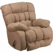 CARNEGY AVENUE SOFTSUEDE TAUPE FABRIC RECLINER