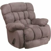 CARNEGY AVENUE SOFTSUEDE GRAPHITE FABRIC RECLINER