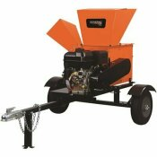 GENERAC PRO 5 IN. 420 CC GAS POWERED ELECTRIC START CHIPPER SHREDDER WITH ROAD TOW KIT