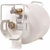 FLAME KING 20 LBS. HORIZONTAL PROPANE TANK REFILLABLE CYLINDER WITH OPD VALVE AND GAUGE
