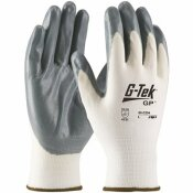 G-TEK LARGE SEAMLESS KNIT NYLON GLOVE WITH NITRILE COATED FOAM GRIP ECONOMY GRADE (12 PAIRS OF GLOVES)