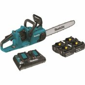 MAKITA 18-VOLT X2 (36-VOLT) LXT LITHIUM-ION BRUSHLESS CORDLESS 16 IN. CHAIN SAW KIT WITH 4 BATTERIES (5.0 AH)
