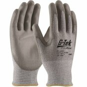 G-TEK LARGE SEAMLESS KNIT BLENDED GLOVE WITH POLYURETHANE COATED SMOOTH GRIP (12 PAIRS OF GLOVES)