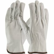PIP MEDIUM ECONOMY GRADE TOP GRAIN COWHIDE LEATHER DRIVERS GLOVE STRAIGHT THUMB (12 PAIRS OF GLOVES)