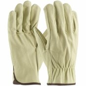 PIP X-LARGE ECONOMY GRADE TOP GRAIN PIGSKIN LEATHER DRIVER'S GLOVE STRAIGHT THUMB (12 PAIRS OF GLOVES)