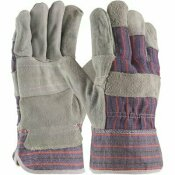 NOT FOR SALE - 312455165 - NOT FOR SALE - 312455165 - PIP LARGE ECONOMY GRADE SHOULDER SPLIT COWHIDE LEATHER PALM GLOVE WITH FABRIC BACK RUBBERIZED SAFETY CUFF (12 PAIRS) - PROTECTIVE INDUSTRIAL PRODUCTS PART #: 85-7500P