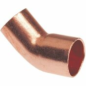 NIBCO 1/2 IN. WROT COPPER 45-DEGREE FTG X C ELBOW - NIBCO PART #: CP606212