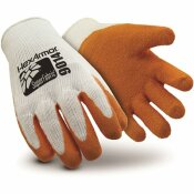 LARGE ORANGE/WHITE SUPER FABRIC GLOVE WITH RUBBER PALM COATING AND NEEDLESTICK RESISTANCE LEVEL 5, ANSI CUT LEVEL A9