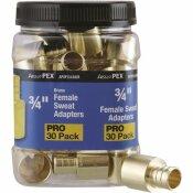 APOLLO 3/4 IN. BRASS PEX BARB X 3/4 IN. FEMALE COPPER SWEAT ADAPTER JAR (30-PACK)