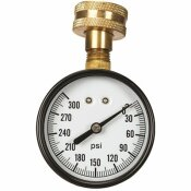 2- 1/2 IN. DIAL 3/4 IN. HOSE CONNECTION 300 PSI HOSE TEST PRESSURE GAUGE UTILITY ACCESSORY