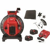 MILWAUKEE M18 18-VOLT LITHIUM-ION CORDLESS 120 FT. PIPELINE INSPECTION SYSTEM IMAGE REEL KIT WITH BATTERIES AND CHARGER - MILWAUKEE PART #: 2973-22