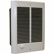 QMARK COS-E FAN-FORCED COMPACT ZONAL WALL HEATER, 6824 BTU, 240/208-VOLT, 2000/1500-WATT OUTPUTS WITH THERMOSTAT