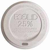 25% RECYCLED CONTENT SMALL HOT CUP LID IN WHITE (1000 PER CASE)