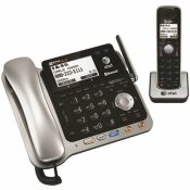 AT AND T DECT 6. 0 2-LINE CORDED/CORDLESS BLUETOOTH PHONE SYSTEM