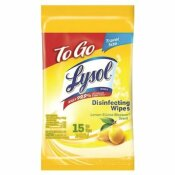 LYSOL LEMON AND LIME BLOSSOM TO-GO FLATPACK (15 CT.) DISINFECTING WIPES - LYSOL PART #: 3155981