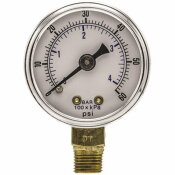 100 SERIES 2 IN. DIAL 1/4 NPT LOWER MOUNT 60 PSI UTILITY ACCESSORY