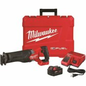 M18 FUEL 18-VOLT LITHIUM-ION BRUSHLESS CORDLESS SAWZALL RECIPROCATING SAW KIT W/ONE 5.0 AH BATTERIES, CHARGER AND CASE - MILWAUKEE PART #: 2821-21