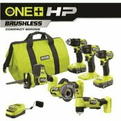 NOT FOR SALE - 314857771 - NOT FOR SALE - 314857771 - RYOBI ONE+ HP 18V BRUSHLESS CORDLESS COMBO KIT (6-TOOL) WITH (2) 1.5 AH BATTERIES, CHARGER, AND BAG - TECHTRONIC INDUSTRIES, CO. LTD. PART #: PSBCK06K