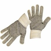 BOSS X-LARGE STRING KNIT REVERSIBLE WITH FULL PVC DOTS COLOR-CODED HEM GLOVE (12 PAIRS OF GLOVES)