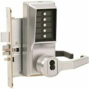 NOT FOR SALE - 316126517 - NOT FOR SALE - 316126517 - 8100 SERIES SATIN CHROME RH MORTISE PUSHBUTTON LOCKSET ADA LEVER SFIC HOUSING - KABA SIMPLEX PART #: R8148B-26D-41