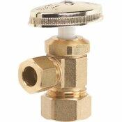 HOMEWERKS WORLDWIDE 1/2 IN. NOMINAL COMPRESSION INLET X 3/8 IN. O.D. COMPRESSION OUTLET MULTI-TURN ANGLE VALVE, ROUGH BRASS - HOMEWERKS WORLDWIDE PART #: 638 5202RB
