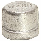 WARD MFG. GALVANIZED MALLEABLE CAP 1/2 IN.
