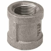 WARD MFG. WARD MANUFACTURING MALLEABLE REDUCING COUPLING, BLACK, 3/4X1/2 IN.