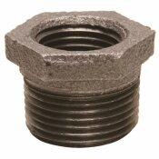 WARD MFG. BLACK MALLEABLE BUSHING 1 IN. X 3/4 IN.