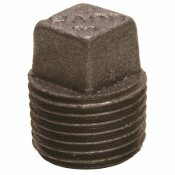 WARD MFG. BLACK MALLEABLE PLUG 1/2 IN.