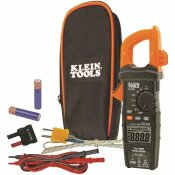 KLEIN TOOLS 600 AMP AC TRUE RMS AUTO-RANGING DIGITAL CLAMP METER WITH TEMP