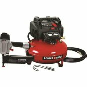 PORTER-CABLE 6 GAL. 150 PSI PORTABLE ELECTRIC AIR COMPRESSOR AND 16-GAUGE NAILER COMBO KIT - PORTER-CABLE PART #: PCFP72671