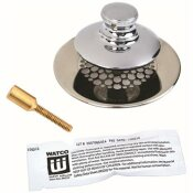 WATCO 2.78 IN. UNIVERSAL NUFIT TUB CLOSURE PUSH/PULL WITH GRID STRAINER WITH BRASS PIN SILICONE