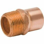 NOT FOR SALE - 3554447 - NOT FOR SALE - 3554447 - STREAMLINE 1 IN. X 1-1/4 IN. C X MPT COPPER MALE ADAPTER - MUELLER PART #: W 01162