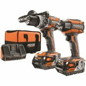 NOT FOR SALE - 3554586 - NOT FOR SALE - 3554586 - 18-VOLT LITHIUM-ION CORDLESS BRUSHLESS HAMMER DRILL AND IMPACT DRIVER 2-TOOL COMBO KIT WITH (2) 4.0AH BATTERIES, CHARGER - RIDGID PART #: R9205
