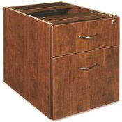 LORELL ESSENTIALS 15.5 IN. W RECTANGULAR CHERRY PEDESTAL FILE CABINET WITH 2-DRAWERS