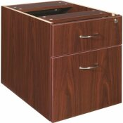 LORELL ESSENTIALS MAHOGANY WITH 2-DRAWERS AND DOUBLE PEDESTAL PEDESTAL FILE CABINET
