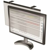 BUSINESS SOURCE 24 IN. COMPUCESSORY LCD PRIVACY AND ANTIGLARE FILTER SCREENS, BLACK