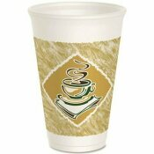 DART CONTAINER DART CAFE G DESIGN FOAM CUPS, WHITE, 16 OZ.