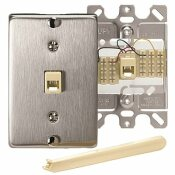 LEVITON STAINLESS STEEL 1-GANG COAXIAL WALL PLATE (1-PACK)