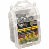 KLEIN TOOLS UNIVERSAL F COMPRESSION CONNECTOR FOR RG6/6Q (50-PACK)