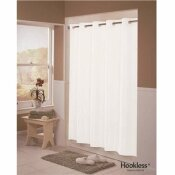 HOOKLESS ENGLEWOOD 71 IN. X 77 IN. WHITE SHOWER CURTAIN (12 PER CASE)