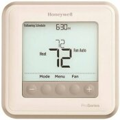 HONEYWELL T6 PRO PROGRAMMABLE THERMOSTAT, 2 HEAT / 1 COOL HEAT PUMP OR 2 HEAT / 2 COOL CONVENTIONAL