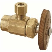 BRASSCRAFT 1/2 IN. NOM SWEAT INLET X 1/4 IN. OD COMPRESSION OUTLET MULTI-TURN ANGLE VALVE, NO-LEAD BRASS (5-PACK)