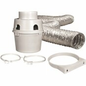 EVERBILT 4 IN. X 5 FT. INDOOR DRYER VENT KIT WITH FLEXIBLE DUCT